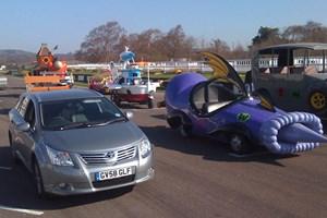 Toyota Avensis lining up with the wacky racers at Goodwood