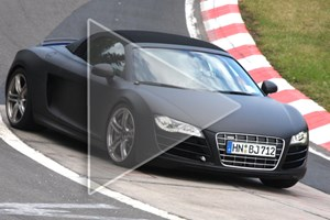 Audi R8 Spider (2010): see it in action in our new CAR spy video below
