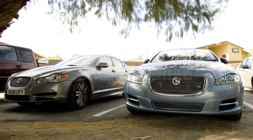 Jaguar xj 2010 meets the xf in the desert car magazine very c xf concepty jag xf has horizontal rear lamps new xj prefers more vertical lights its the most radical angle of the new xj publicscrutiny Image collections