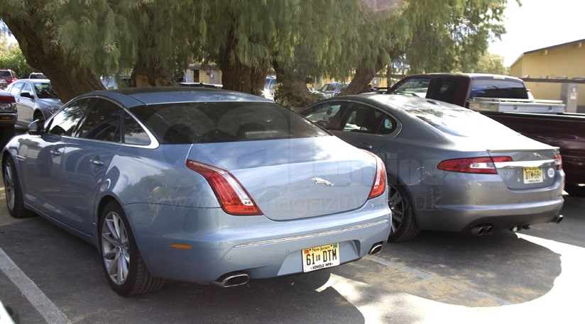 Jaguar XJ (2010) meets the XF in the desert | Secret New Cars | Car Magazine