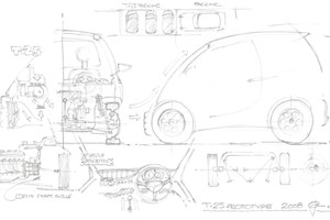 Gordon Murray's T25: the earlier technical drawings