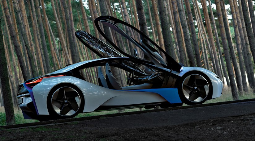Large Polycarbonate Gullwing Doors For The New Bmw Concept Car
