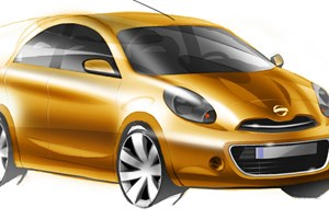Nissan Micra (2010) first design sketches