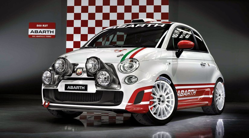 fiat 500 abarth 500 r3t rally car 2009 revealed by car magazine. Black Bedroom Furniture Sets. Home Design Ideas