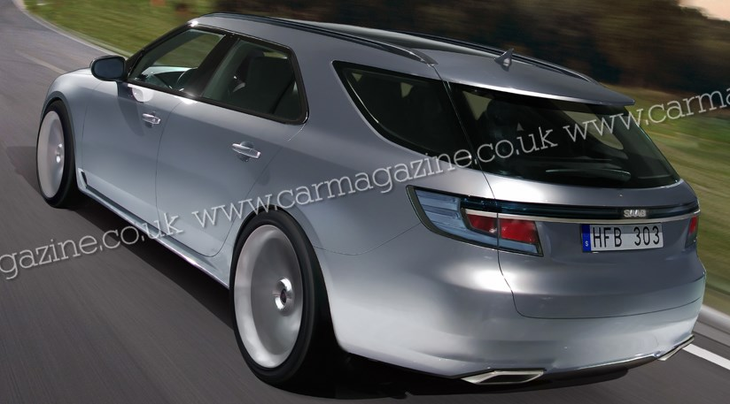 This is our new artist's impression of the new Saab 9-5 estate