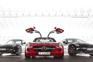 Read CAR's exclusive group test of the Mercedes SLS AMG against the new Porsche 911 Turbo and Nissan's GT-R in the December 2009 issue of CAR Magazine - out Wednesday 18 November 2009