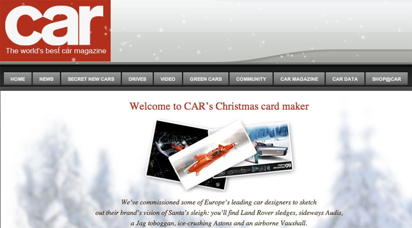 Send Car S Christmas E Cards For Free Car Magazine