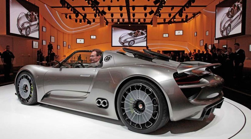 Porsche 918 Spyder (2010) at Geneva motor show | CAR Magazine on