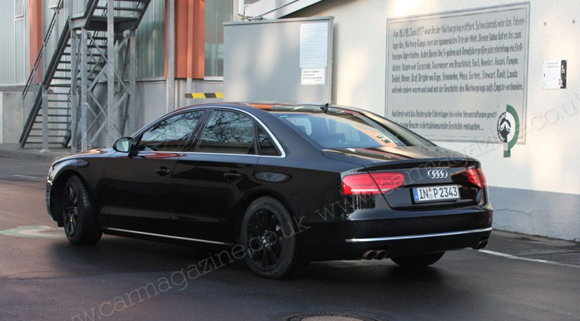 audi s8 2011. Audi S8 (2011) spied at the