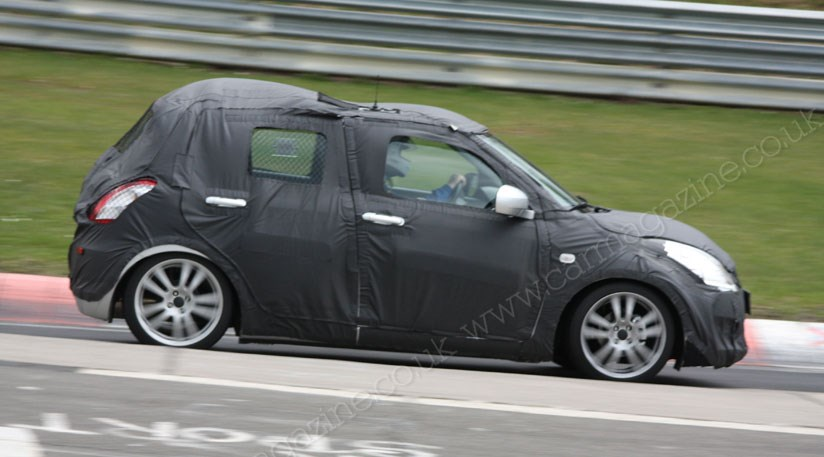 suzuki swift 2010 scooped at the nurburgring by car magazine. Black Bedroom Furniture Sets. Home Design Ideas