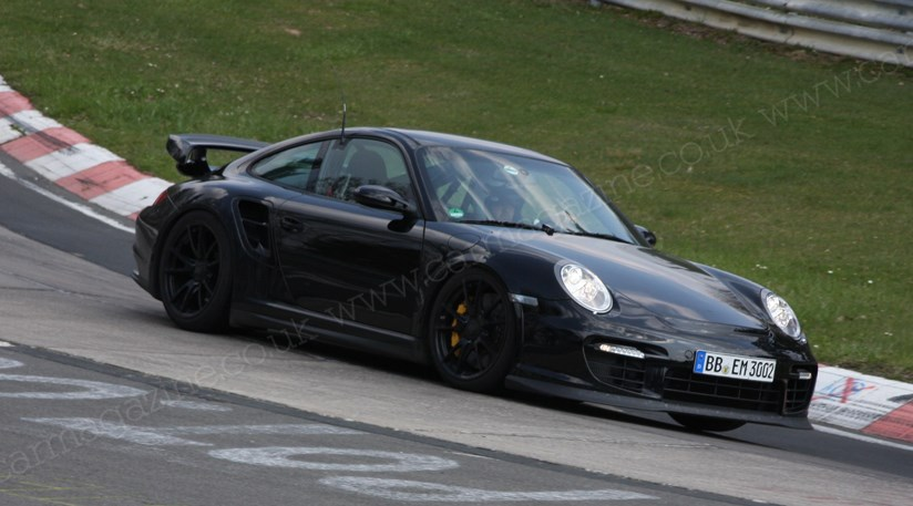 porsche 911 gt2 rs 2010 spied at the 39 ring by car magazine. Black Bedroom Furniture Sets. Home Design Ideas