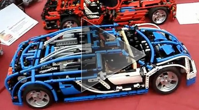 Remote Controlled Lego Bugatti Veyron With A Working Seven
