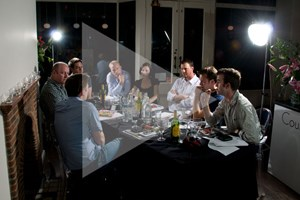 The CAR team gather over dinner to discuss the greatest supercar of 2010. Bread rolls get thrown