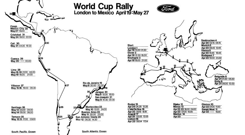 Win one of five books on the 1970 World Cup Rally by CAR