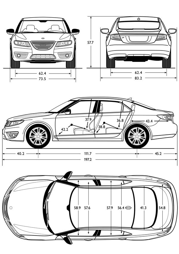 Woops Its A Big Car The New 2010 Saab 9 5 Over 5m Long For Crying Out Loud
