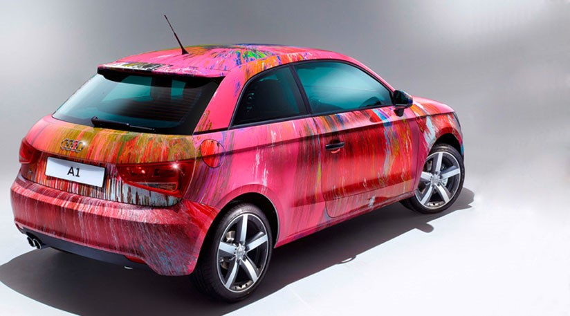 photo of Damien Hirst Audi A1 - car