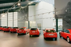 Audi showrooms will soon have conservatories and all manner of extensions to squeeze everything in