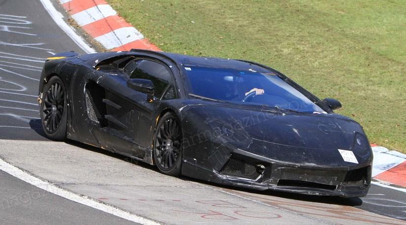 Lamborghini S New 2011 V12 Supercar Spy Photos Car Magazine