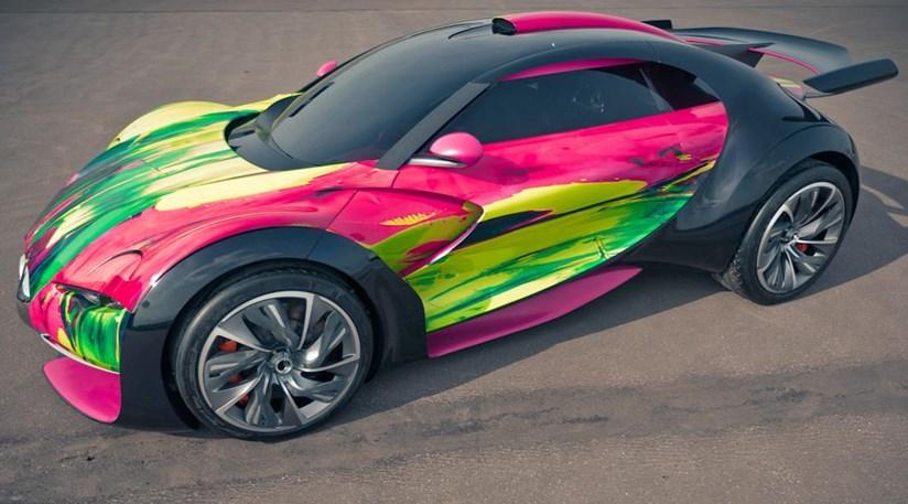Citroen Survolt Art Car (2010) first pictures by CAR Magazine