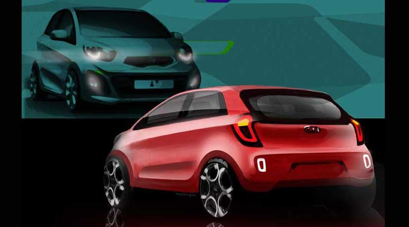 kia picanto 2011 the first design sketches by car magazine. Black Bedroom Furniture Sets. Home Design Ideas