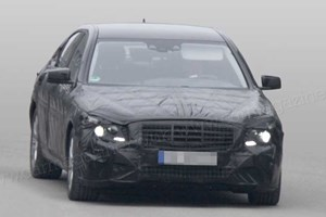 These spy photos of W222 Mercedes S-class were taken in Europe. Background changed to protect our location!