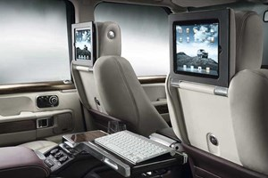 Range Rover Autobiography Ultimate Edition: a pair of iPads built into the head restraints