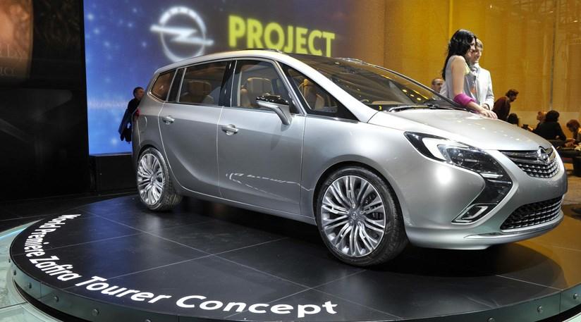 vauxhall zafira tourer concept 2011 at 2011 geneva motor. Black Bedroom Furniture Sets. Home Design Ideas