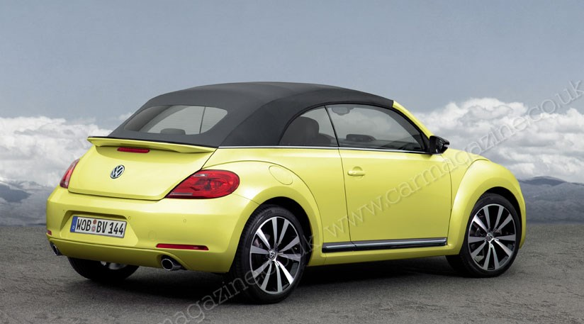 vw beetle cabriolet 2012 revealed by car magazine. Black Bedroom Furniture Sets. Home Design Ideas