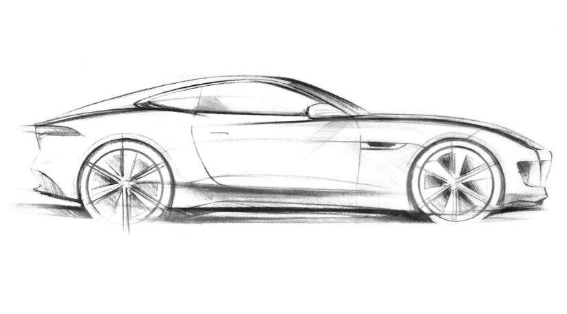 Jaguar C X16 Concept 2011 The First Official Sketch Of