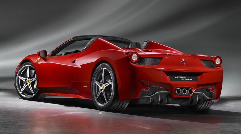 Ferrari 458 Spider 2012 first official pictures by CAR Magazine