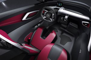 Cabin photo inside the Audi Urban concept car