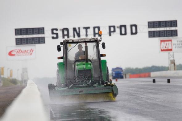 Rain at Santa Pod - not good for a standing start