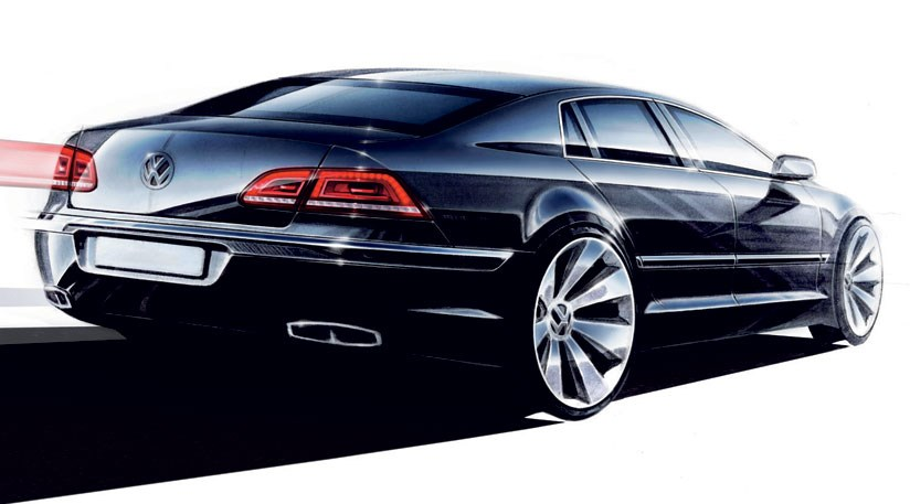 The Next Vw Phaeton Is Due In 2017 This Actually A Design Sketch For Cur