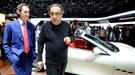 Ferrari chief Sergio Marchionne (right) with marketing whizz John Elkann