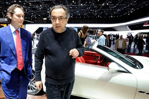 Ferrari chief Sergio Marchionne (right) with marketing whizz John Elkann