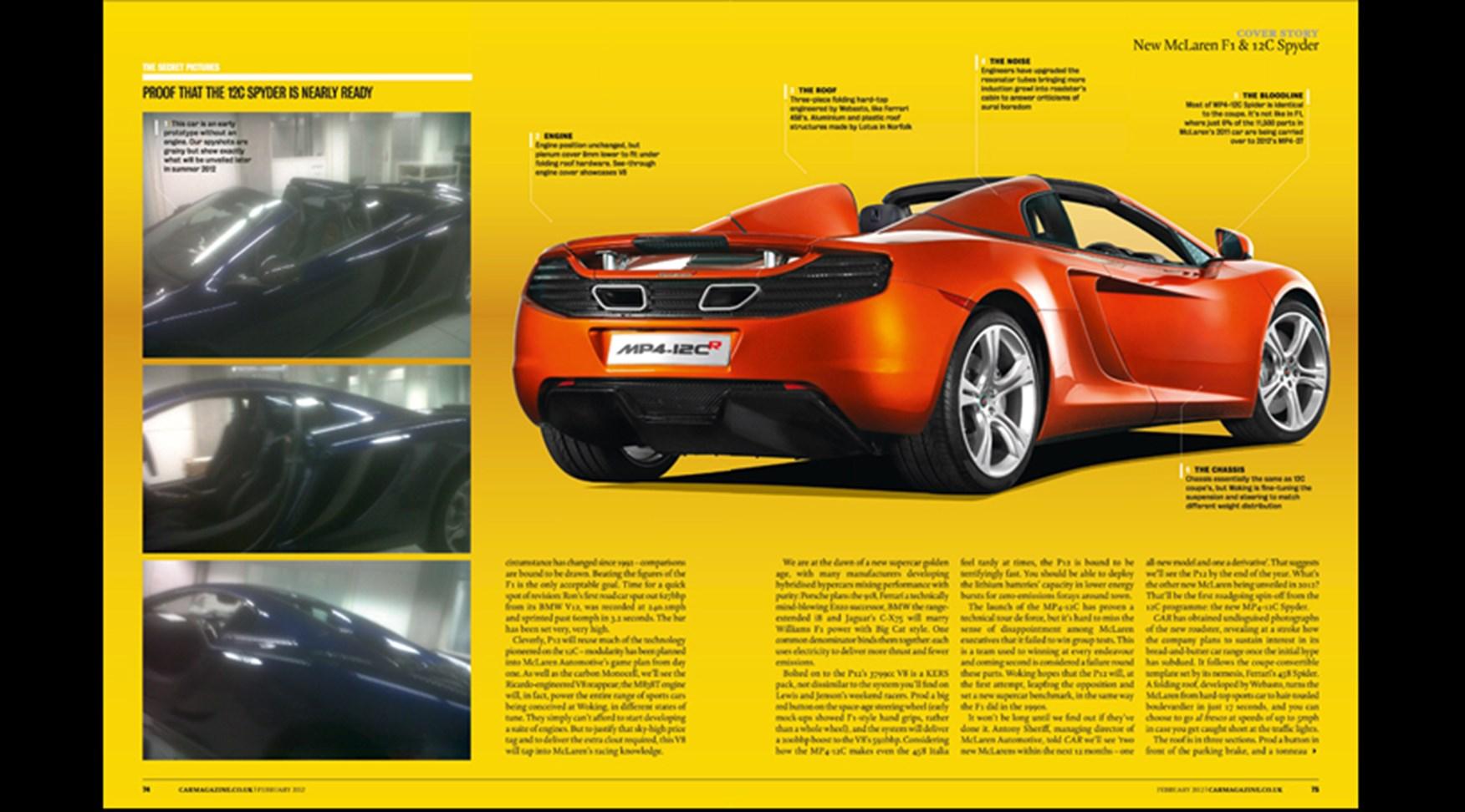 Mclaren P12 2013 Car S Scoop On The F1 Successor Car