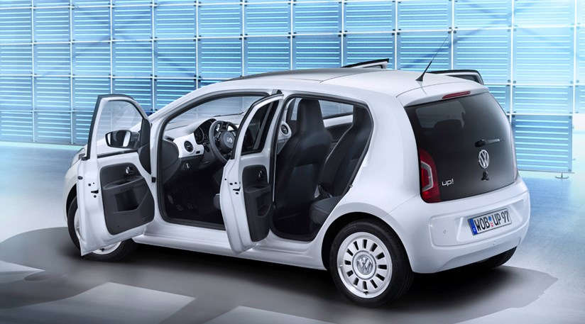 vw up 5dr 2012 revealed the upsized one by car magazine. Black Bedroom Furniture Sets. Home Design Ideas