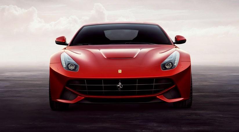 Note the active aero on the front of the new Ferrari F12 Berlinetta