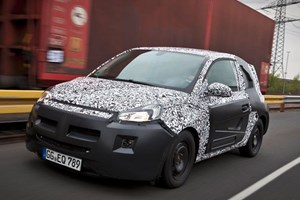 An officially sanctioned pic of a disguised Vauxhall Adam