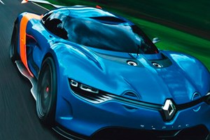 The Alpine A110-50 concept car: an early leaked photo
