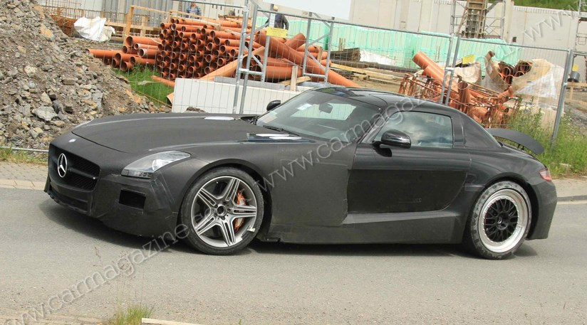 Mercedes sls black series 2012 spy shots by car magazine for Mercedes benz average price