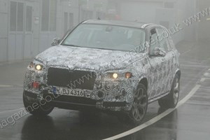 BMW X5 (2012) spy shots - it's the third gen X5, wet weather testing