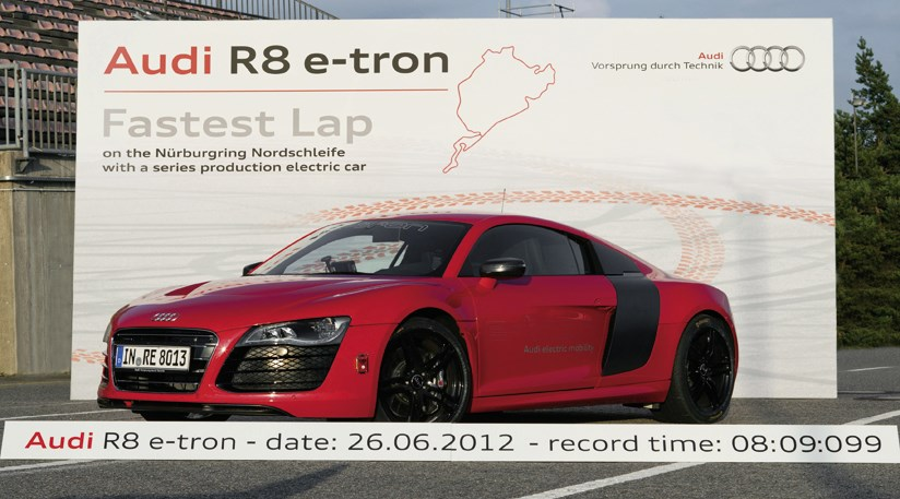 Audi R Etron Sets New Ring Record CAR Magazine - Audi r8 etron