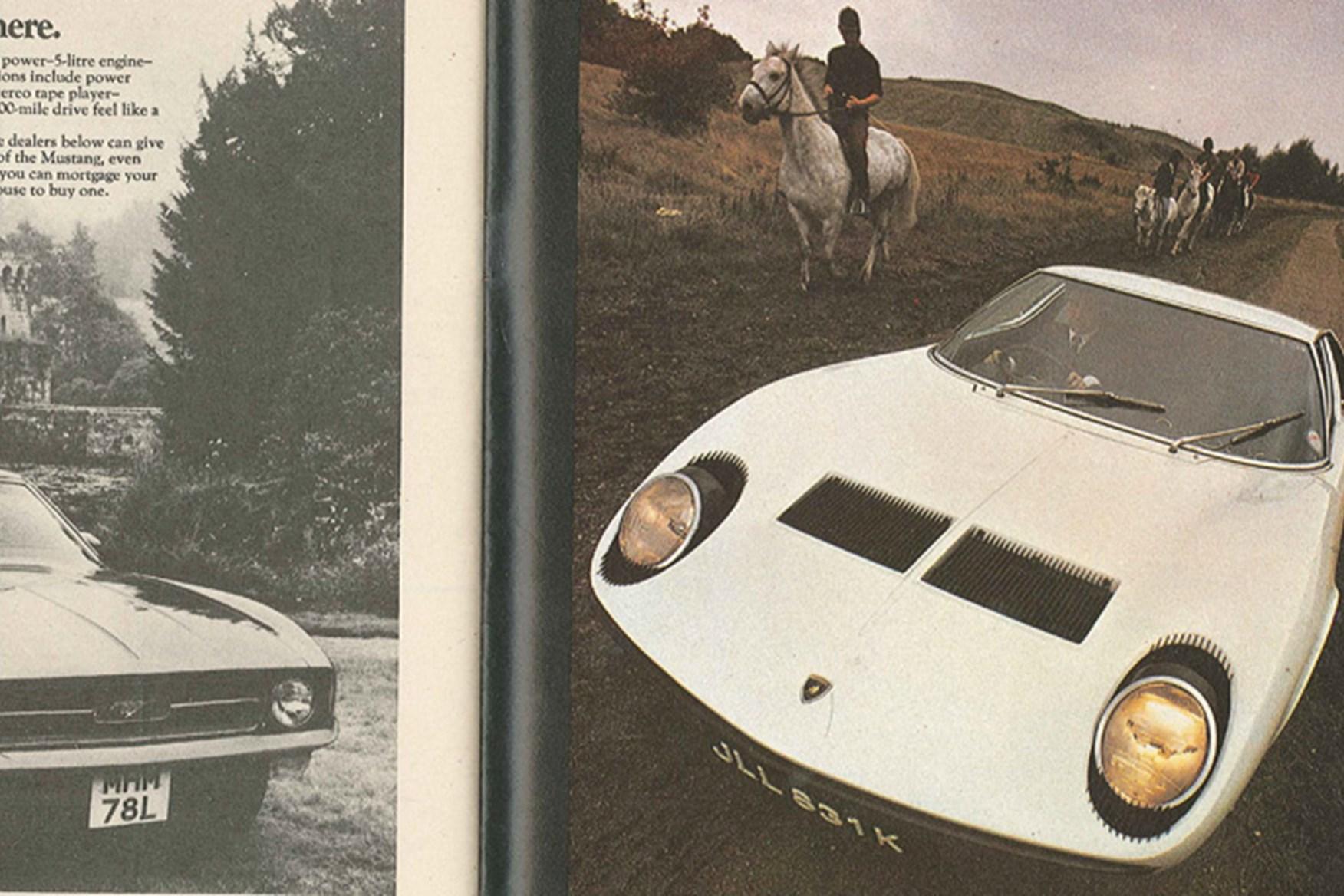 Lamborghini Miura The Last Hoorah, November 1972 .