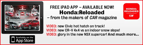 Honda reloaded iPad app - FREE download