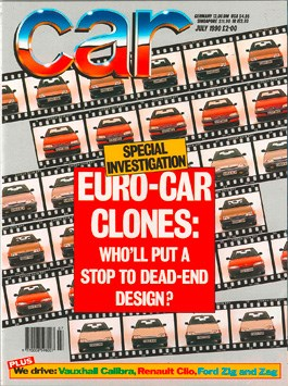 July 1990 CAR magazine issue cover