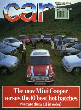 September 1990 CAR magazine issue cover