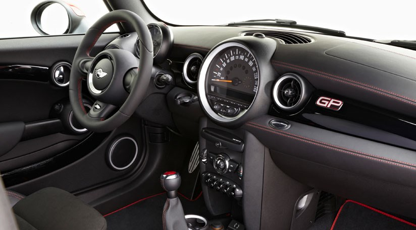 Interior Gets Red Highlights Gp Badging Aplenty But Few Other Clues This Is A 29k Mini