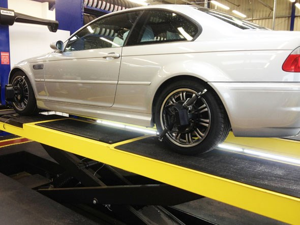 Fortunately Andy's M3 hasn't spent too much time on the ramp