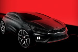 Kia Proceed GT (2013) first sketch of Kia's sporty hatch